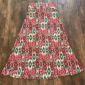 Missimo M Patterned Maxi Skirt